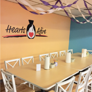 host a party at hearts afire