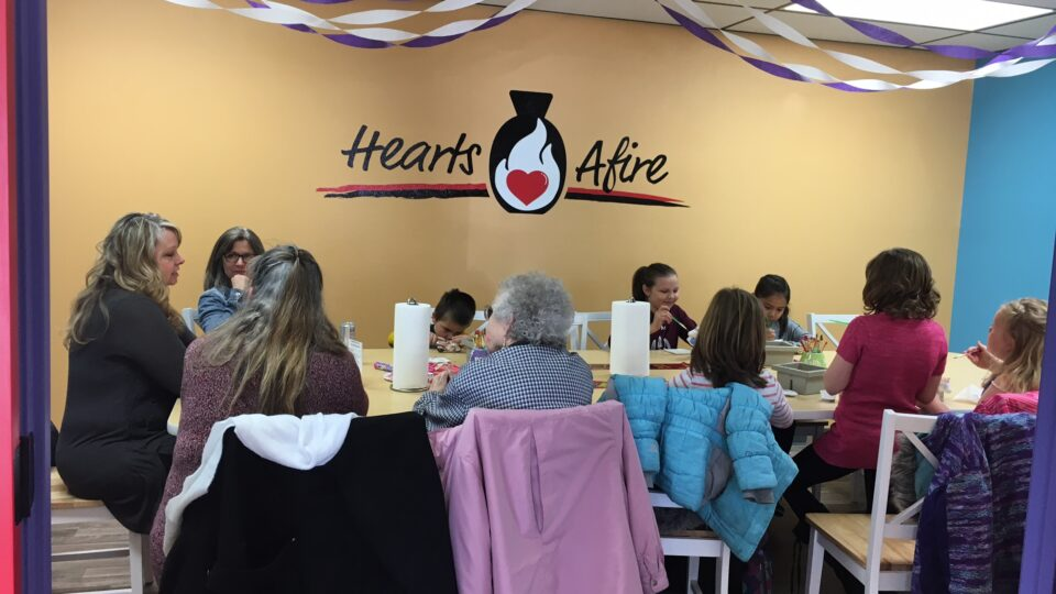 Hearts Afire Pottery Party Room